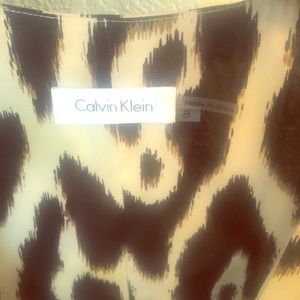 Calvin Klein Leopard print dress from Macy's